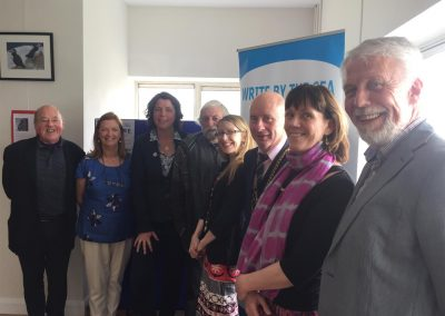 WBTS launch -Joe Neal, Lucy Moore, Liz Burns, Jackie Hayden, Cat hogan, Frank Staples, Fiona O'Rourke, Jim Moore (Large)